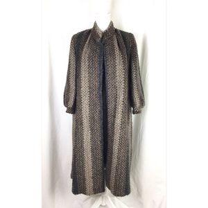 Vintage jacket – coat black brown gray size S- M